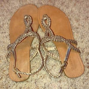 Merona sandals - metallic color.